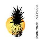 stylish hand drawn grunge... | Shutterstock .eps vector #731540011