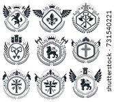 old style heraldry  heraldic...   Shutterstock .eps vector #731540221