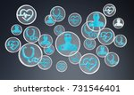 modern medical interface with... | Shutterstock . vector #731546401