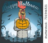 vector illustration of rooster...   Shutterstock .eps vector #731546521