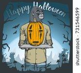 vector illustration of monkey...   Shutterstock .eps vector #731546599