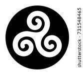 illustration of tryskel black...   Shutterstock .eps vector #731548465