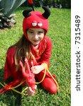 girl in devil costume | Shutterstock . vector #7315489