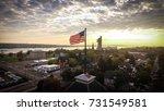Aerial United States Flag...