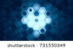cyan and blue abstract... | Shutterstock . vector #731550349