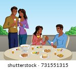 vector illustration of a group... | Shutterstock .eps vector #731551315