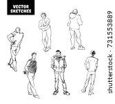vector set of design elements.... | Shutterstock .eps vector #731553889