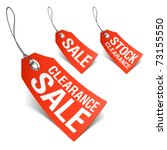 sale tags. vector. | Shutterstock .eps vector #73155550