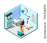 isometric ophthalmologist... | Shutterstock .eps vector #731556391
