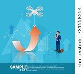 isometric future business... | Shutterstock .eps vector #731558254