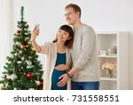 winter holidays  technology and ... | Shutterstock . vector #731558551
