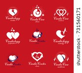 heart shapes composed using... | Shutterstock .eps vector #731560171