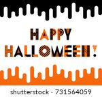 happy halloween. trendy... | Shutterstock .eps vector #731564059