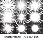 collection of nine radial speed ... | Shutterstock .eps vector #731564155