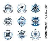flowers  royal symbols  floral... | Shutterstock .eps vector #731569609