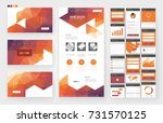 website template  one page... | Shutterstock .eps vector #731570125
