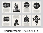 vector halloween greeting cards ... | Shutterstock .eps vector #731571115
