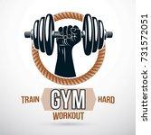 bodybuilding and fitness sport...   Shutterstock .eps vector #731572051
