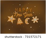 happy new year beautiful card... | Shutterstock .eps vector #731572171