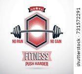 weight lifting association... | Shutterstock .eps vector #731572291
