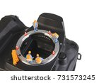 miniature action figure workers ... | Shutterstock . vector #731573245