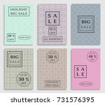collection of sale banners ... | Shutterstock .eps vector #731576395