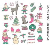christmas icons collection.... | Shutterstock .eps vector #731576704