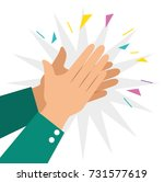 human hands clapping ovation... | Shutterstock .eps vector #731577619