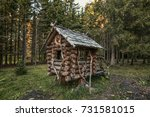 the house on chicken legs   the ... | Shutterstock . vector #731581015