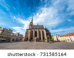 st. bartholomew cathedral in... | Shutterstock . vector #731585164