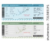 air ticket with barcode ... | Shutterstock .eps vector #731585191