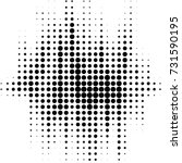 grunge halftone black and white ... | Shutterstock .eps vector #731590195