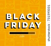 abstract vector black friday... | Shutterstock .eps vector #731595031