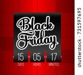 abstract vector black friday... | Shutterstock .eps vector #731597695