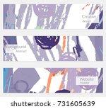 hand drawn creative universal... | Shutterstock .eps vector #731605639