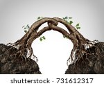 connected together concept and... | Shutterstock . vector #731612317