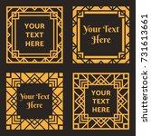 set of decorative frames.... | Shutterstock .eps vector #731613661