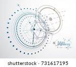 engineering technological... | Shutterstock .eps vector #731617195