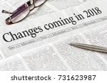 a newspaper with the headline... | Shutterstock . vector #731623987