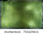 football players running around ...   Shutterstock . vector #731624611
