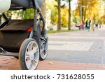 wheels on a pram   Shutterstock . vector #731628055