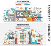 business flat line concept web... | Shutterstock .eps vector #731630011