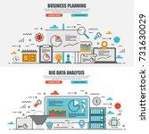 business flat line concept web...   Shutterstock .eps vector #731630029