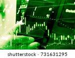 market cost economy analysis... | Shutterstock . vector #731631295
