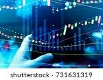 market cost economy analysis... | Shutterstock . vector #731631319