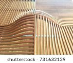 modern wooden chair with curve... | Shutterstock . vector #731632129