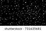 white snow on black background. ... | Shutterstock .eps vector #731635681