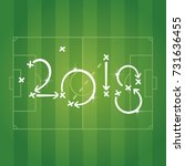 soccer strategy for goal 2018... | Shutterstock .eps vector #731636455