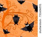 halloween seamless pattern | Shutterstock .eps vector #731636551