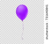 realistic purple balloon... | Shutterstock .eps vector #731640841